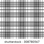 textured plaid  seamless vector ... | Shutterstock .eps vector #308780567