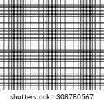 textured plaid  seamless vector ... | Shutterstock .eps vector #308780567