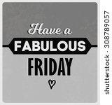 retro typographic poster design ... | Shutterstock .eps vector #308789057