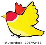 a colorful cartoon bird  low...