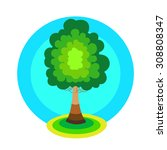 tree icon concept. green tree...   Shutterstock .eps vector #308808347
