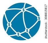 blue money network  mlm... | Shutterstock . vector #308815817