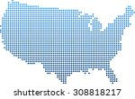 map of usa | Shutterstock .eps vector #308818217
