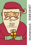 santa claus with merry christmas | Shutterstock .eps vector #308818487