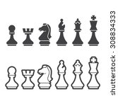 chess icon | Shutterstock .eps vector #308834333