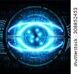 dark blue color light abstract...   Shutterstock .eps vector #308852453