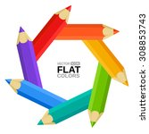 Colored Pencils Designed As A...