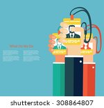 leadership in business concept | Shutterstock .eps vector #308864807