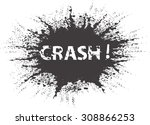 black grunge ink splash... | Shutterstock .eps vector #308866253