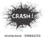 black grunge ink splash... | Shutterstock .eps vector #308866253