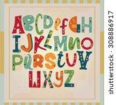funny alphabet | Shutterstock .eps vector #308886917