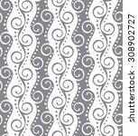 monochrome seamless pattern... | Shutterstock .eps vector #308902727