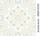 seamless damask pattern in... | Shutterstock .eps vector #308919353