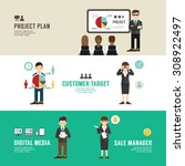 business position design... | Shutterstock .eps vector #308922497