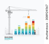 infographic business graph... | Shutterstock .eps vector #308924567