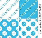syringe patterns set  simple... | Shutterstock .eps vector #308926457