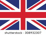 flag of the united kingdom.... | Shutterstock .eps vector #308932307