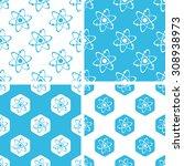 atom patterns set. atom...