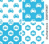 car patterns set  simple and...