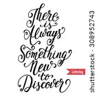 there is always something new...   Shutterstock .eps vector #308952743