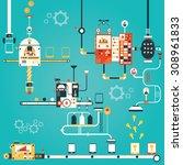 modern vector illustration of... | Shutterstock .eps vector #308961833