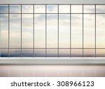 3d illustration of empty office ... | Shutterstock . vector #308966123