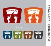 vector   weight scale...   Shutterstock .eps vector #308979833