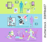 medical technology and... | Shutterstock .eps vector #308986607