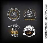 wild west badges design.... | Shutterstock .eps vector #308997863
