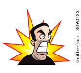 angry man | Shutterstock .eps vector #3090233
