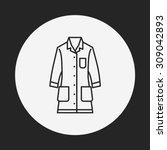 lab coat line icon | Shutterstock .eps vector #309042893