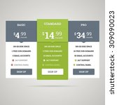 pricing table for websites and... | Shutterstock . vector #309090023