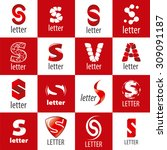 large set of vector logos letter | Shutterstock .eps vector #309091187