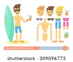 character's constructor  young... | Shutterstock .eps vector #309096773