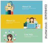 concepts for web banners and... | Shutterstock .eps vector #309098453