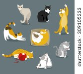 cats | Shutterstock .eps vector #309105233