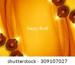 yellow color card design for... | Shutterstock .eps vector #309107027