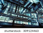 equipment  cables and piping as ... | Shutterstock . vector #309124463