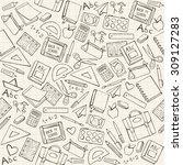 back to school seamless pattern ... | Shutterstock .eps vector #309127283