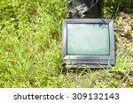 Old Television Crt Abandoned I...
