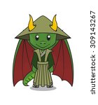 vector mascot of a cute dragon... | Shutterstock .eps vector #309143267