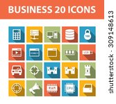 business 20 color vector flat...
