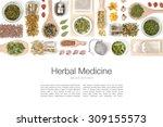 herbal tea on white background  | Shutterstock . vector #309155573