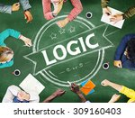Small photo of Logic Reasonable Critical Thinking Concept