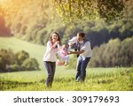 happy young family spending... | Shutterstock . vector #309179693