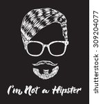 hipster hair and beard. vintage ... | Shutterstock .eps vector #309204077