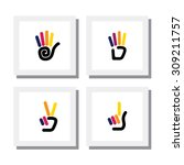 set of logo designs of colorful ...