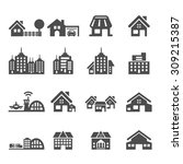 building icon set 5  vector... | Shutterstock .eps vector #309215387