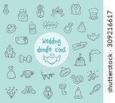 wedding   doodle icons | Shutterstock .eps vector #309216617
