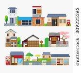 japanese house | Shutterstock .eps vector #309225263